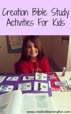 Creation Bible Study Activities for Kids! From Creative Learning Fun