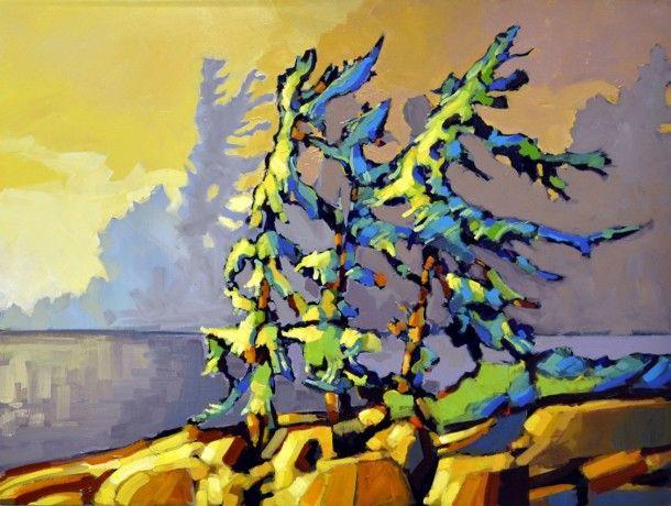 The Spoken Forest by Jerzy Werbel, Acrylic on Canvas, Painting   Koyman Galleries