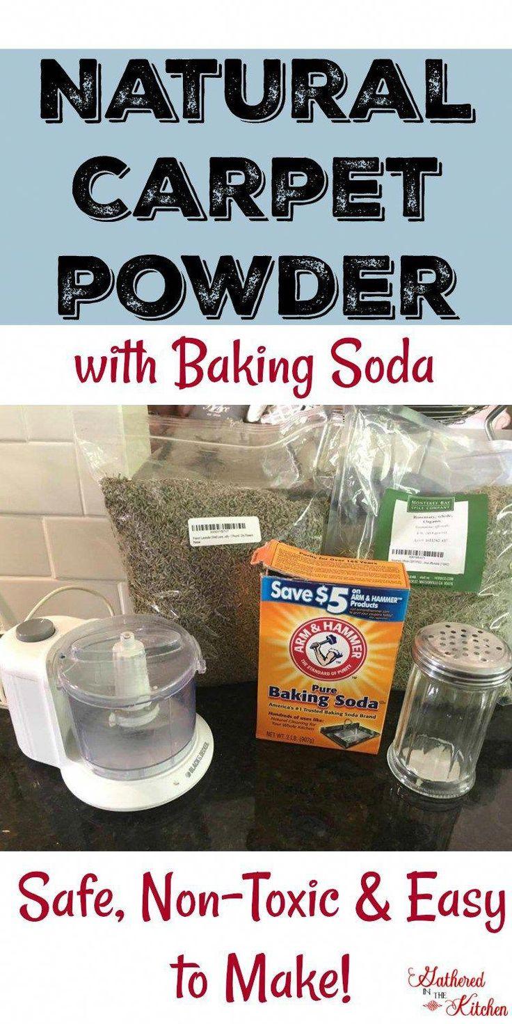 Homemade Natural Carpet Deodorizing Powder made with