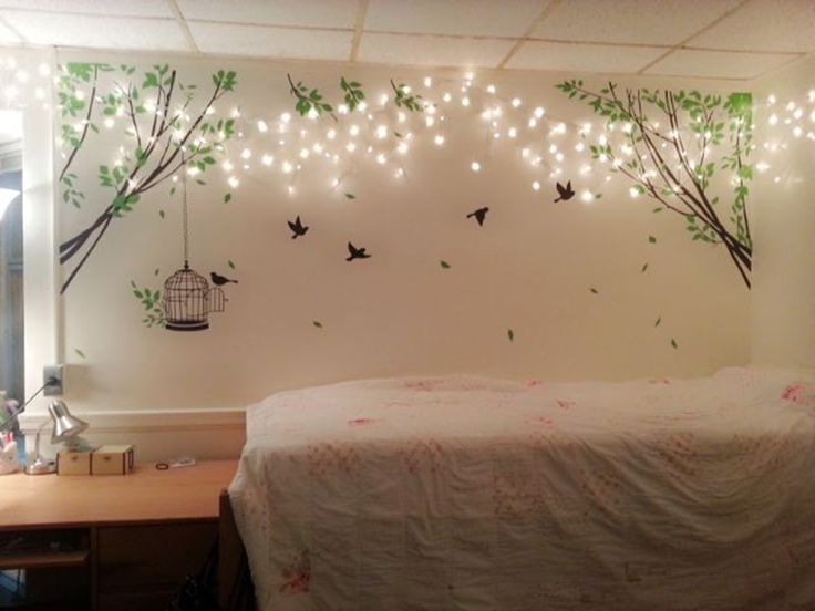 How To Decorate Bedroom With Rope Lights. Wall Decoration ...