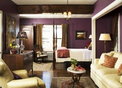 This great plum room is inside the Hillbrook Inn in Charles Town, West Virginia