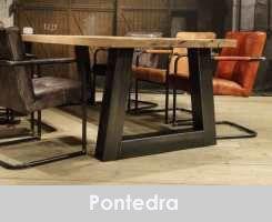 industriele trapeze poot tafel pontedra - 240x100 6cm gerookt ultra mat 4 planken blad (2)