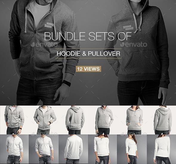Download Hoodie Pullover Bundle Mock Up Clothing Mockup Hoodie Mockup Shirt Mockup