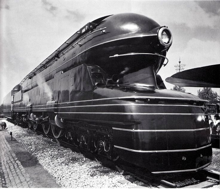 Pennsylvania Railroad S-1 locomotive, styled by Raymond Loewy.