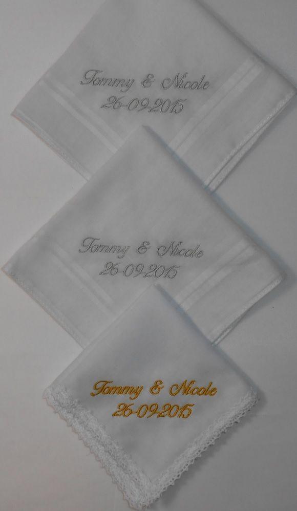 Bruiloft van Tommy en Nicole http://www.bruiloftzakdoekje.nl