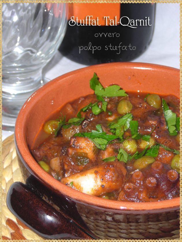 Stuffat Tal-Qarnit ovvero polpo stufato (Octopus Stew, typical Maltese recipe)