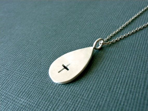 Cross Necklace sterling silver women necklace by KristianJessie