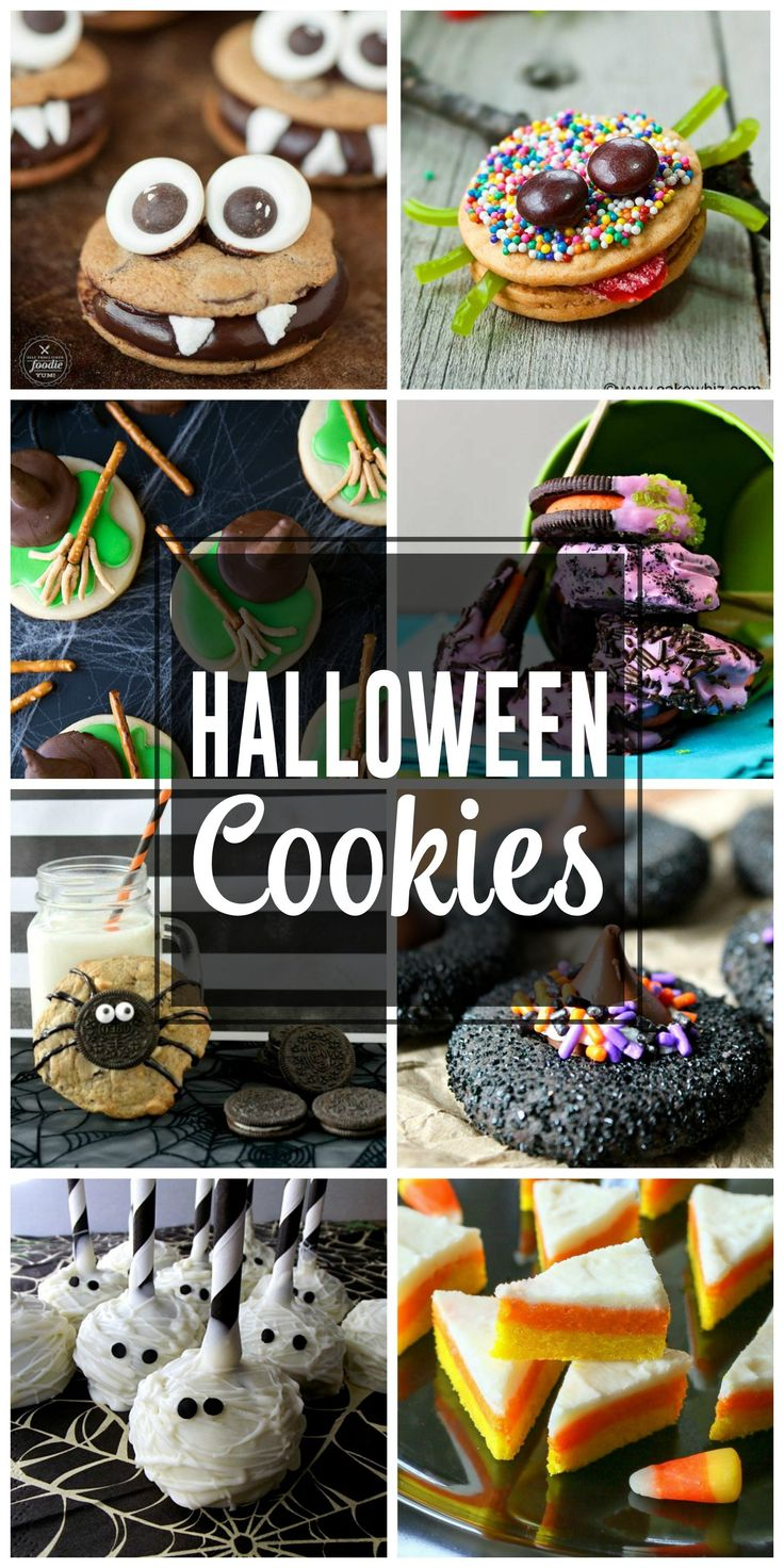 Fun Halloween Cookies that your kids will love for you to make. Oreos, candy corn cookies, sugar cookies