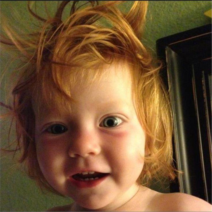 Φωτογραφίες μωρών με αστεία μαλλιά - Imommy