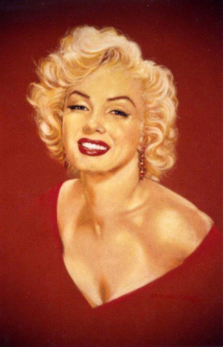 Сексуальная мэрилин монро напечатаны маслом на холсте стены искусства красный плакатов печатает изображение для гостиной украшения дома - 4153123