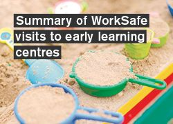 Summary of WorkSafe visits to early learning centres