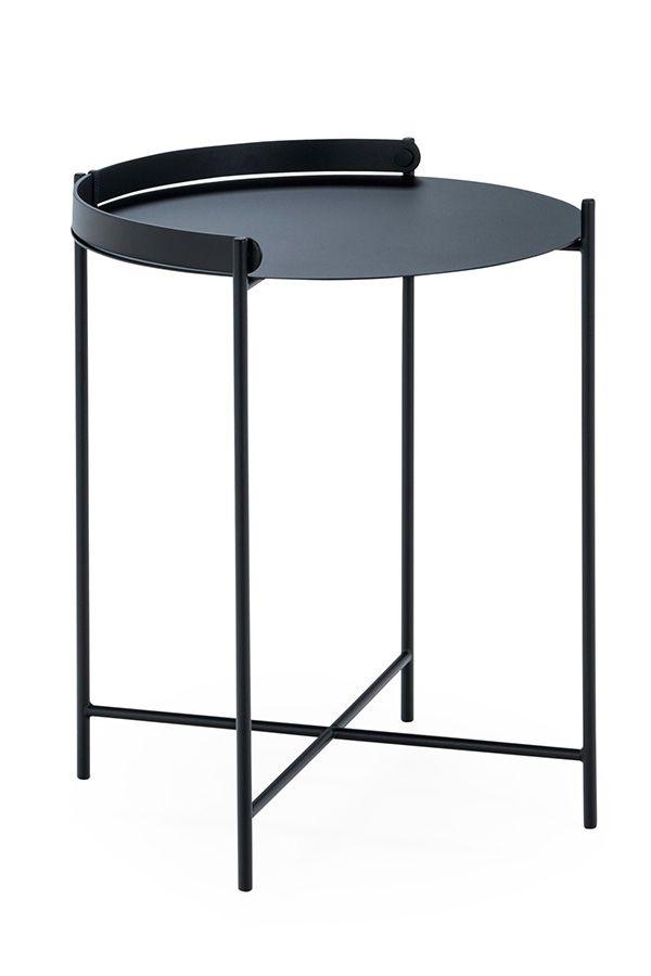 Beistelltisch Edge Mittel Schwarz Schwarz Tisch Outdoor Tisch Und Aussenmobel