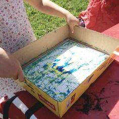 Kulmålning är ett enkelt och fint pyssel. Det bästa är om man har en låda lika stor som pappret tex kan man ju passa på att ta hem en låda ...