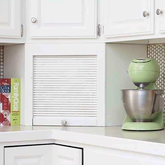 Kitchen Storage Zones: De 25+ Bedste Idéer Inden For Appliance Garage På