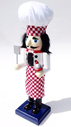 Unique Themed Decorative Holiday Season Wooden Christmas Nutcracker  Cooking Chef or Baker ** See this great product.