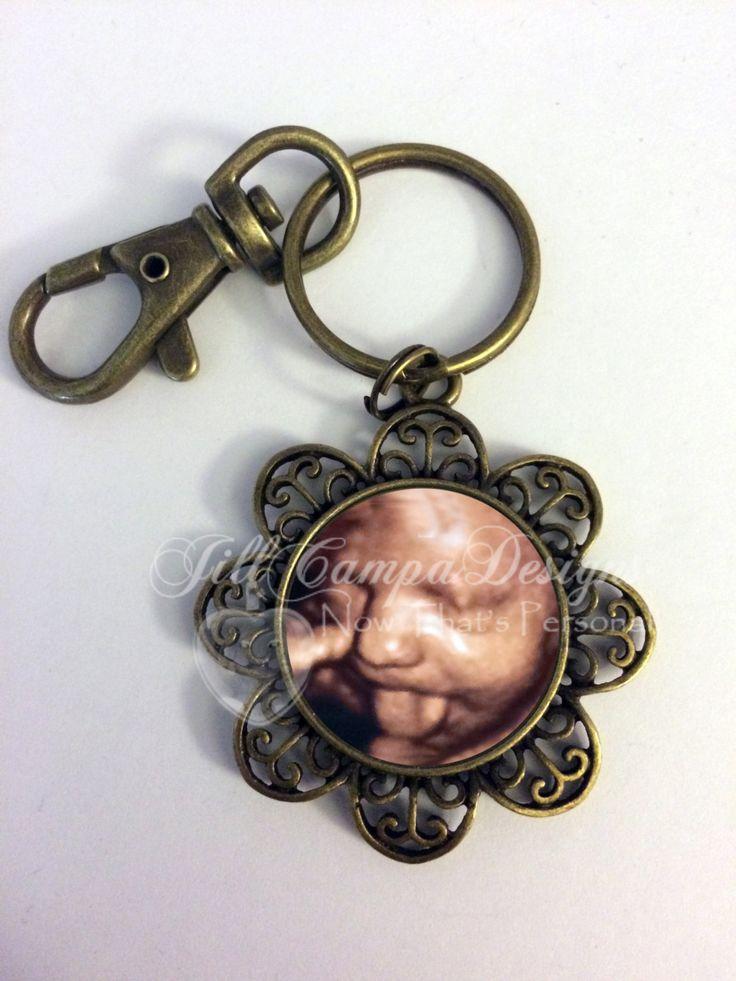 Sonogram Keychain - Your Baby's SONOGRAM Image - BABY Sonogram - Your baby's sonogram - baby ultrasound- sonogram keychain, key ring by NowThatsPersonal on Etsy
