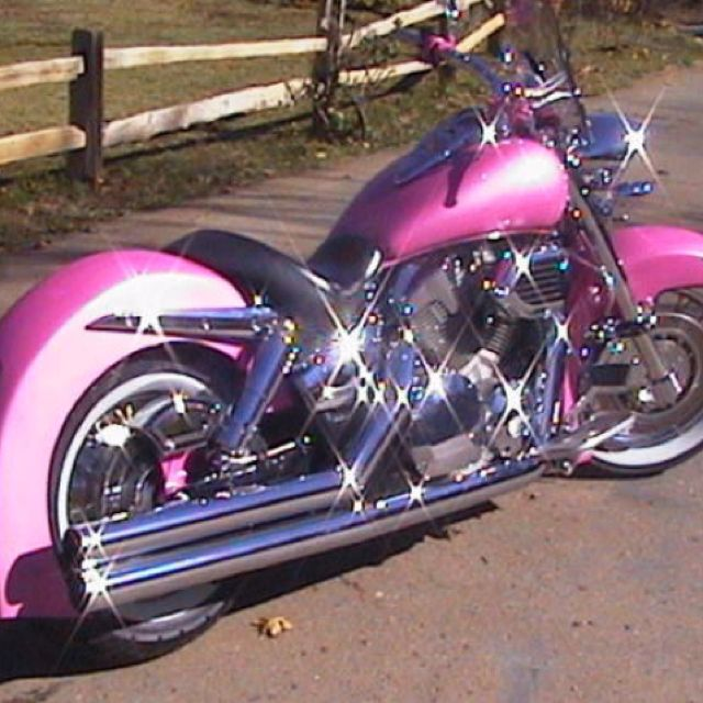 I love it. I always said when I make my first million, I am getting a pink harley                                                                                                                                                     More