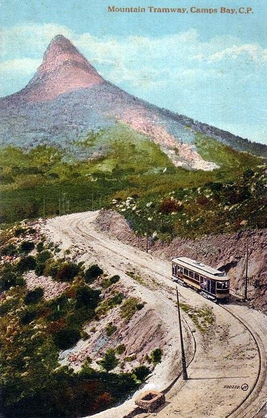 Kloof Nek to Camps Bay Tramway 1905. Author Unknown - Copyrights have expire.