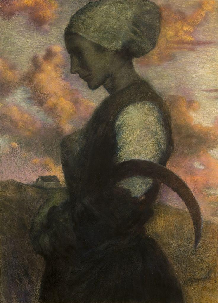 Lucien Lévy-Dhurmer (French, 1865-1953)Prayer at Twilight (La Prière au Crépuscule), 1890via  dekehlmark