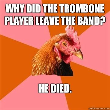 I am so confused as to put this on my anti-jokes board or band board. I know! I'll put it on both!