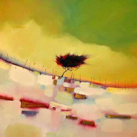 Twisty tree on the snowy gap by Sharon McDaid - PRINT