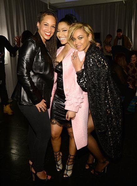 Beyoncé ,Nicki Minaj & Alicia Keys At TIDAL Press Conference At Skylight At Moynihan Station In New York City 30.03.2015