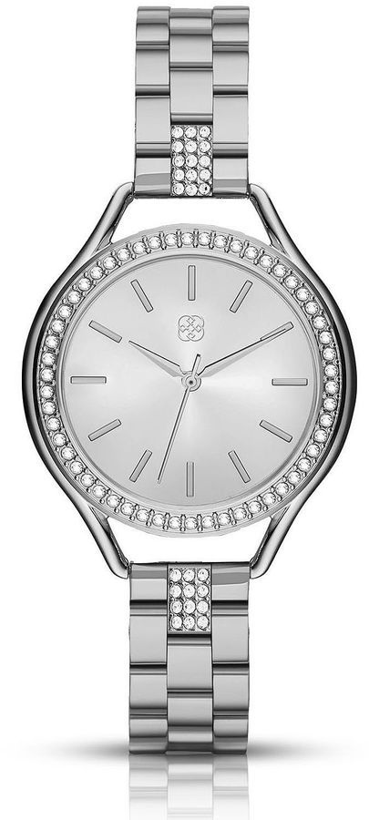 DAISY FUENTES Daisy Fuentes Womens Silver Tone Bracelet Watch-Df114sl