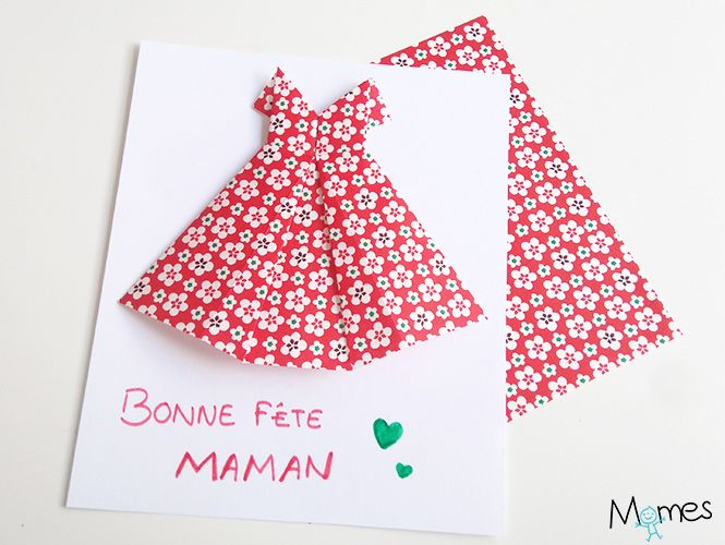 carte robe origami                                                                                                                                                                                 Plus