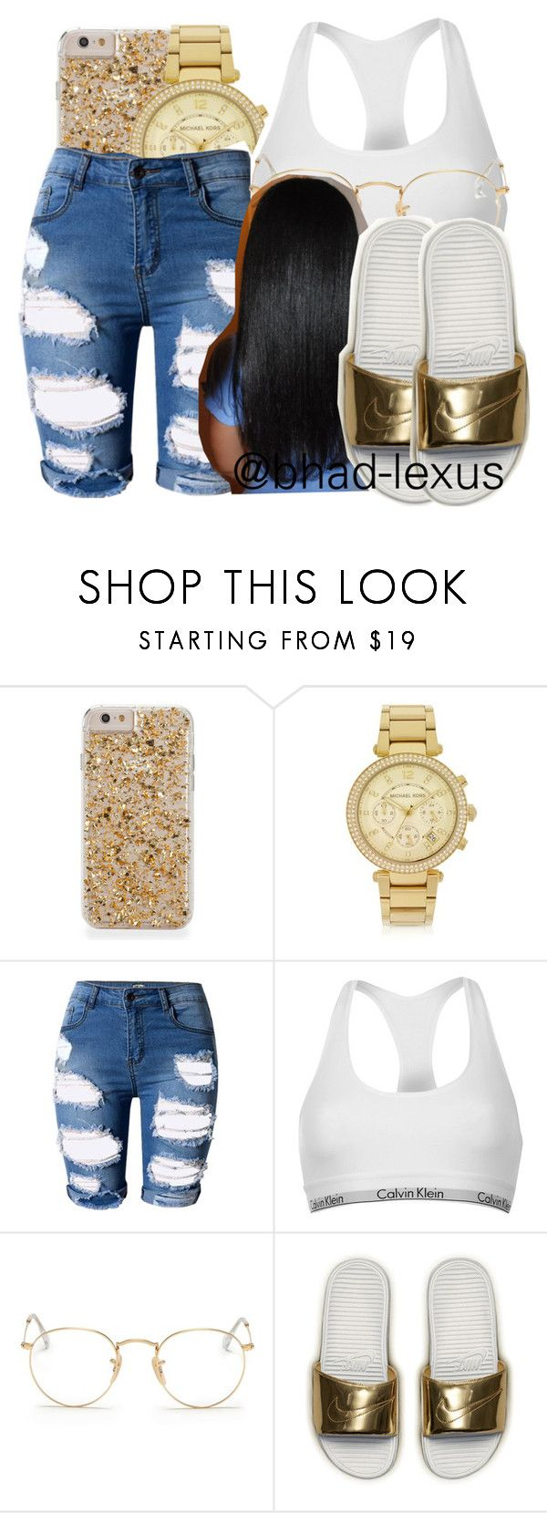 """""""✨ b e h o l d"""" by bhad-lexus ❤ liked on Polyvore featuring Michael Kors, Topshop, Calvin Klein, Ray-Ban and NIKE"""