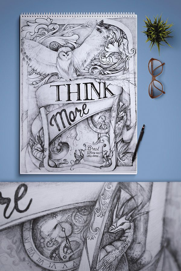 """Think more"" on Behance"