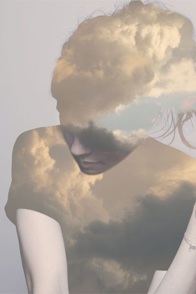 .: Matte Wisniewski, Double Exposure, Sky, Dreams, Digital Art, Photography Design, Cloud, White Wall, Doubleexposure