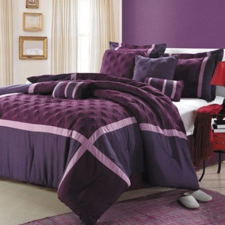 die besten 25 plum comforter ideen auf pinterest pflaumen bettw sche lila tr ster und. Black Bedroom Furniture Sets. Home Design Ideas