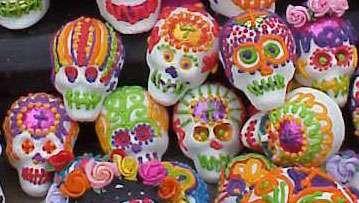 Day of the Dead sugar skulls, Mexico