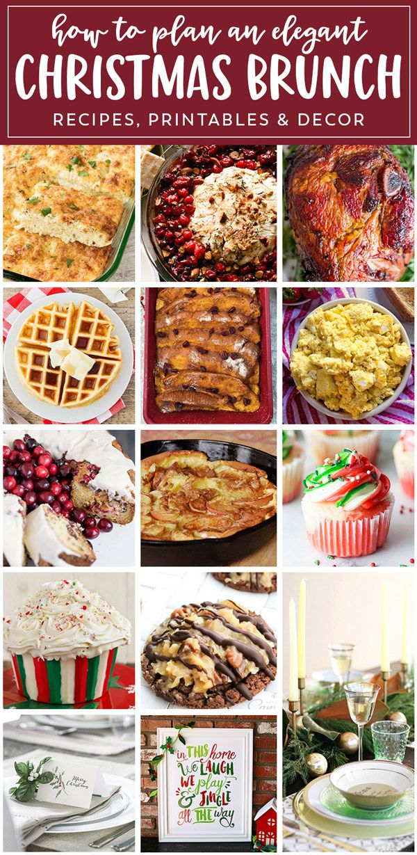 Christmas Brunch Meal Plan  Christmas brunch recipes, Holiday
