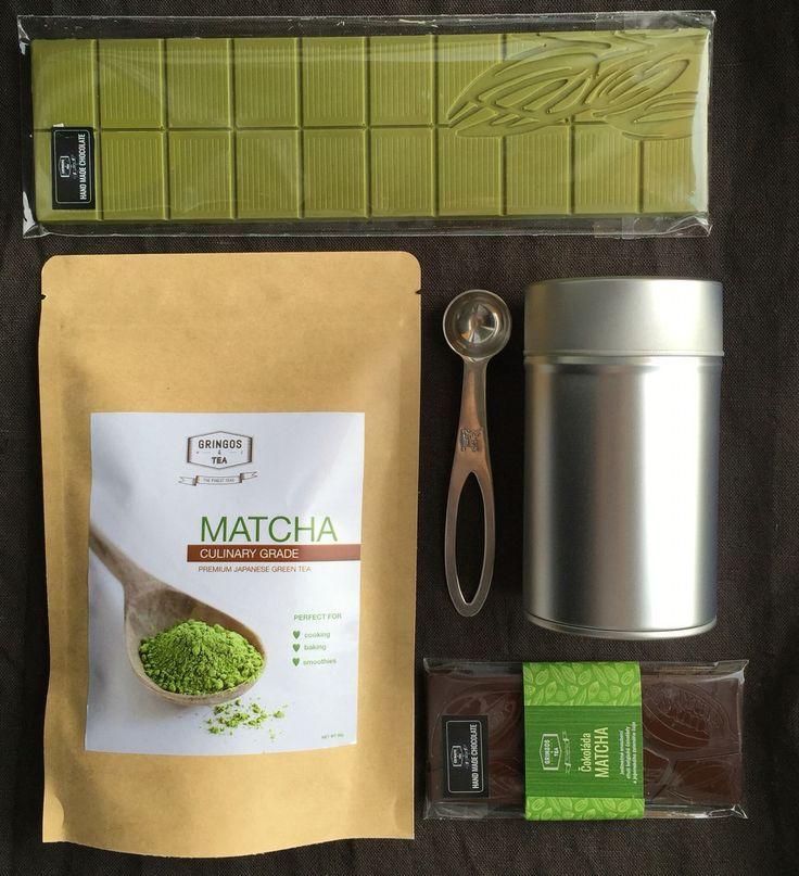 Výherní balíček - čokoláda, dóza dvojitý uzávěr, odměrka na čaj, Bio zelený čaj Matcha Culinary