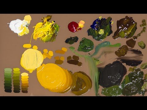 how to mix colors with oil paint - YouTube