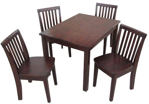 International Concepts 5Piece 2532 Table With 4 Mission Juvenile Chairs  Rich Mocha Finish * You Can
