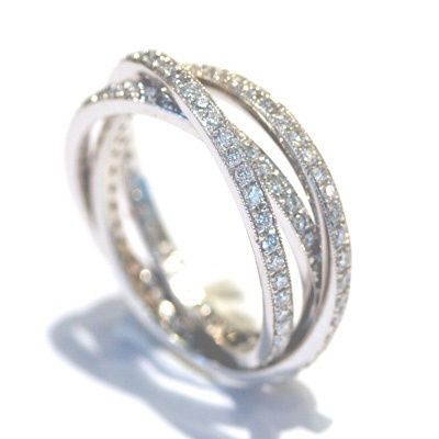 Diamond Eternity Band 14k White Gold Diamond Wedding Ring Women Wedding Band… Vintage Engagement Rings