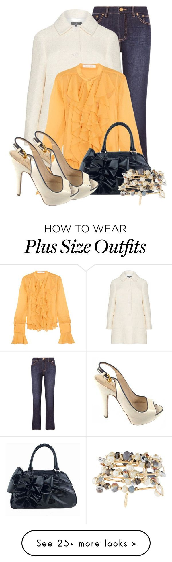 """""""Ruffle Top"""" by lchar on Polyvore featuring Tory Burch, See by Chloé, Valentino, Prada and Emily & Ashley"""