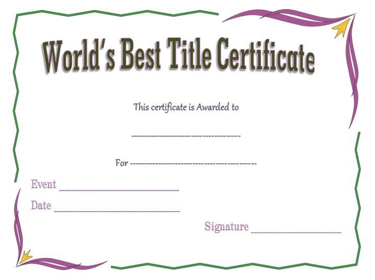 Award certificate template free resume sample resume