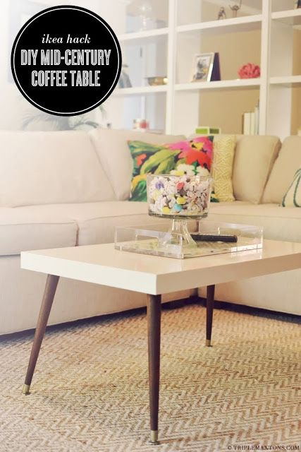 Lack Turned Mid-Century Modern Coffee Table - IKEA Hackers