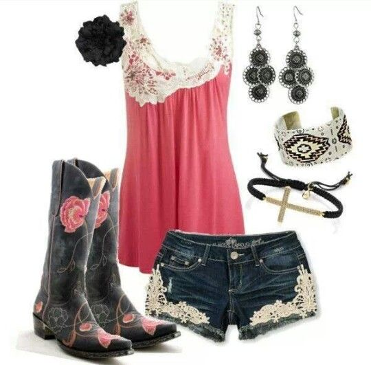 Summer Country Girl Outfit | Shorts U0026u0026 Tanks | Pinterest