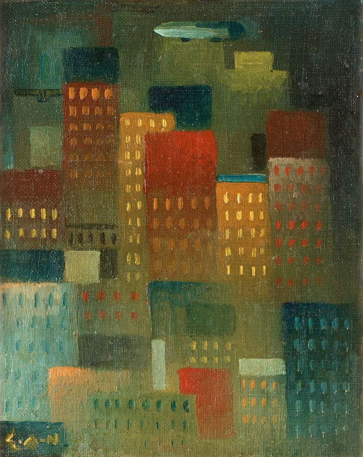 Gösta Adrian-Nilsson (Suède, 1884-1965) – Skyskrapor (ca 1918-1919)