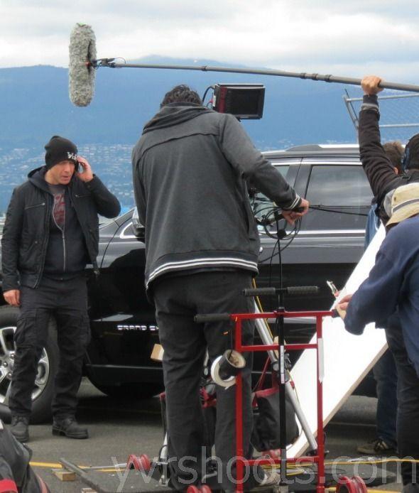 Hugh Dillon (Vincent)~on the set of The Last Crop (Black Harvest, IMBD)