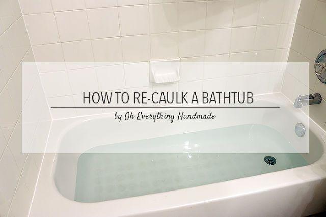 how to re caulk a bathtub tips, bathroom ideas, home maintenance repairs, how to, How to re caulk a bathtub