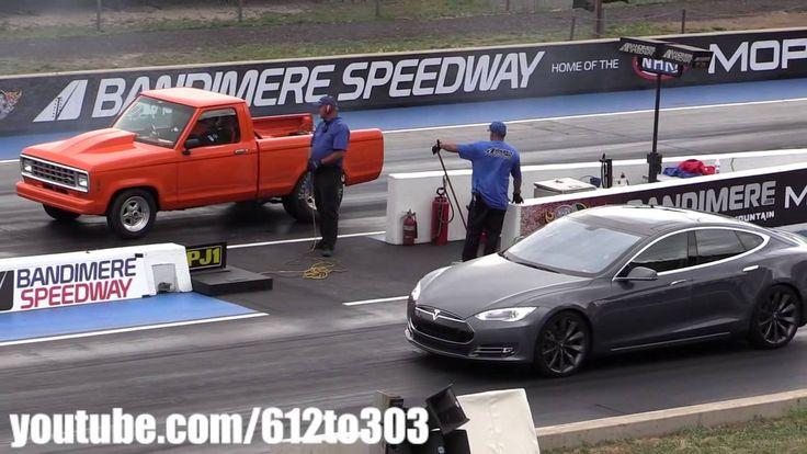 Драг Рейсинг Tesla Model S vs Ford Ranger Drag Race