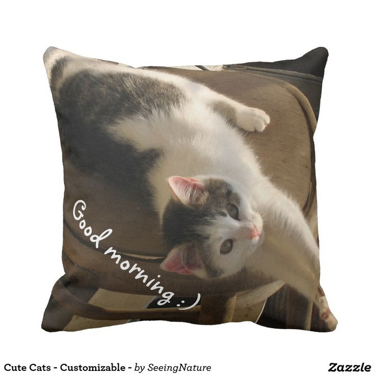 Cute Cats - Customizable - Throw Pillow