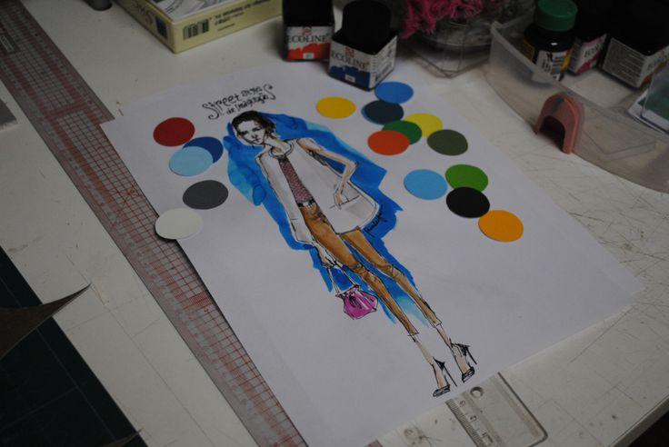 Desenho de moda com ecoline priyoodrawings.tumblr.com