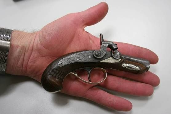 The gun that John Wilkes Booth used to kill Abraham Lincoln in 1865.