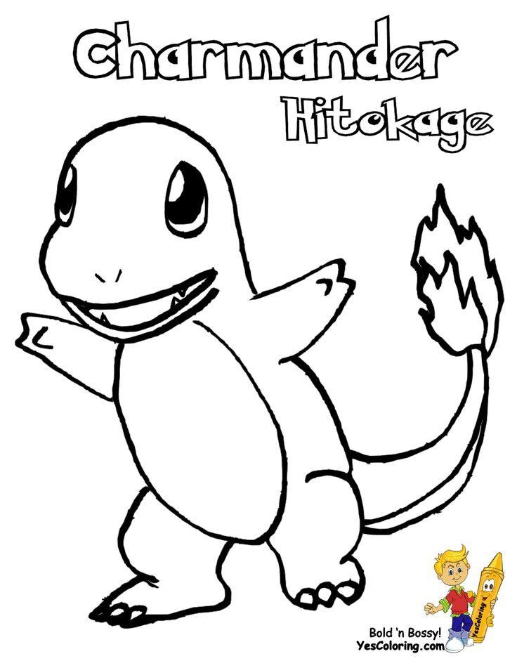 for Charmander coloring page